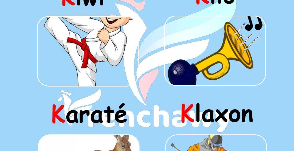 Alphabet français-la-lettre-k-Rahaf-Walid