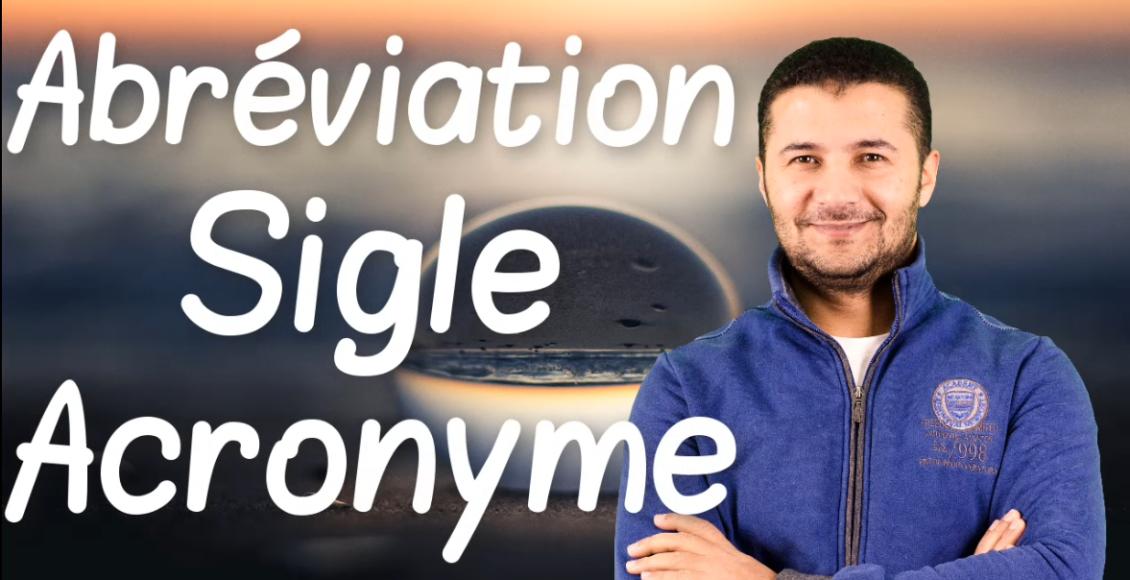 Sigles abbreviations acronymes
