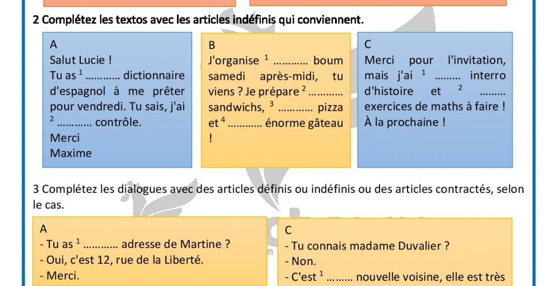 Communication avec les articles