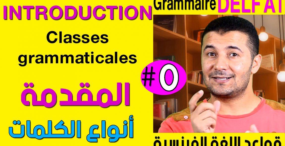 Grammaire DELF A1 Introduction et classes grammaticales (2)