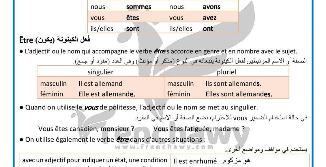 Grammaire Delf A1 Etre au présent de l indicatif