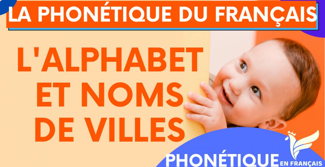 L'alphabet français avec des noms de villes